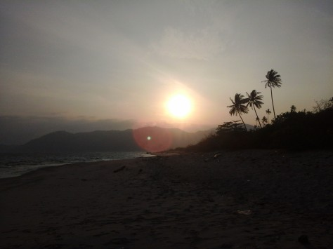 Disambut sunrise di pagi hari